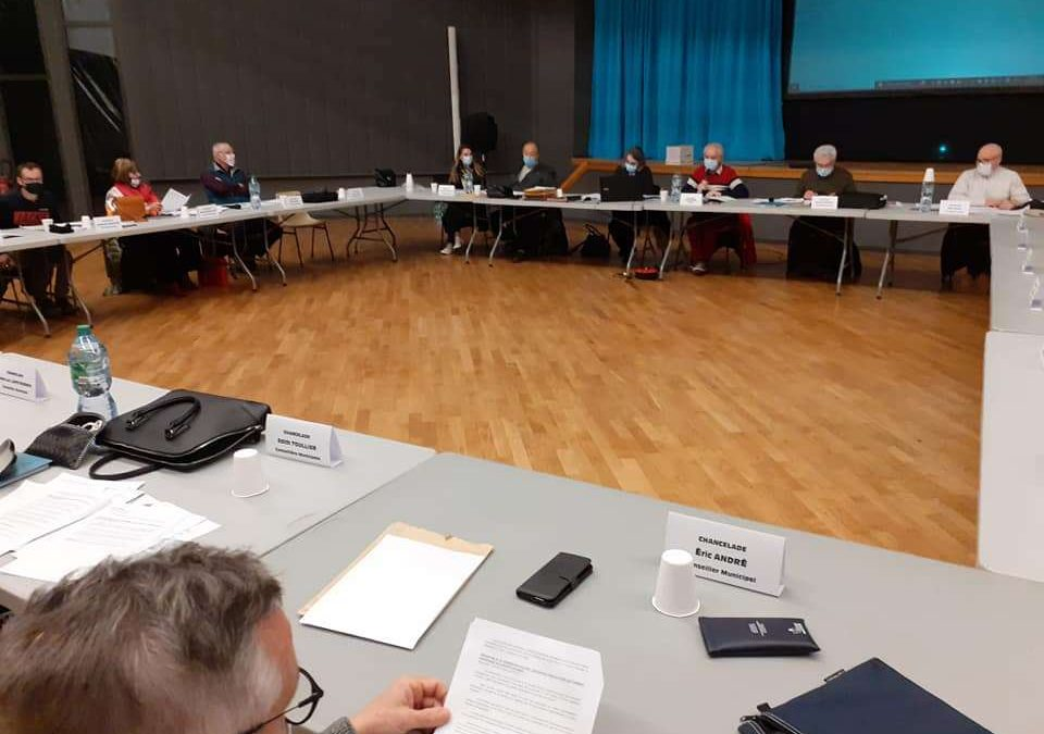 Premier Conseil  municipal  de Chancelade 2021